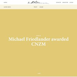 Michael Friedlander awarded CNZM