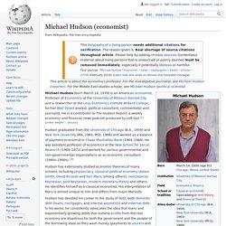 Michael Hudson (economist)
