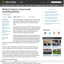 Michael Jackson, Pepsi made marketing history