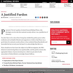 Michael Flynn Pardon Justified Clemency