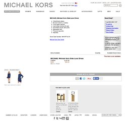 MICHAEL Michael Kors Side-Lace Dress