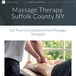 Contact Michael Read for Massage Therapy