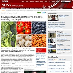 Seven-a-day: Michael Mosley's guide to reaching the target
