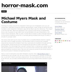 Michael Myers Mask and Costume