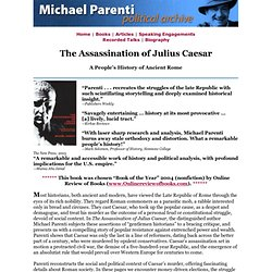 Michael Parenti: The Assassination of Julius Caesar