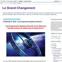 Dr Michael E. Salla : Les Programmes Spatiaux Secrets !