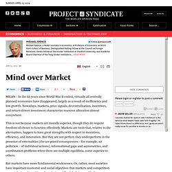 Mind over Market - Michael Spence - Project Syndicate