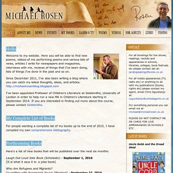 :: Michael Rosen - The Website ::