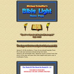 Michael Scheifler's BIBLE LIGHT HOMEPAGE