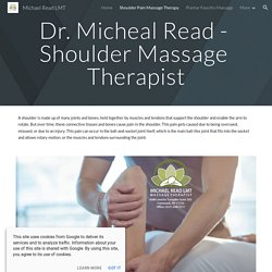 Shoulder Massage Therapist in NY by Dr. Micheal Read