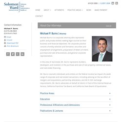 Michael P. Burns - Solomon Ward Attorney