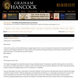 Michael Tellinger on The Gospel of Judas - Graham Hancock Official Website