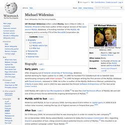 Michael Widenius - Wikipedia