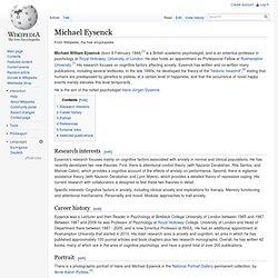 Michael Eysenck