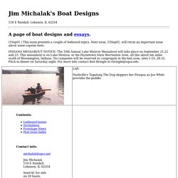 Jim Michalak's Boat Designs/The Index