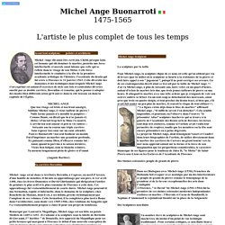 Michel Ange Buonarroti 1475
