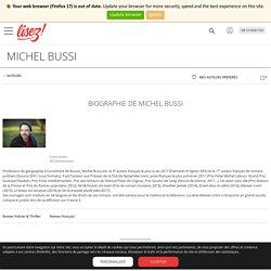 Michel BUSSI : sa biographie, son actualité, ses livres