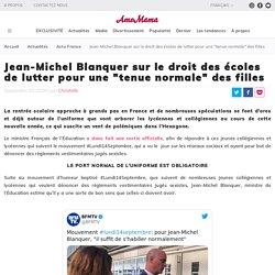 """Jean-Michel Blanquer sur le droit des écoles de lutter pour une """"tenue normale"""" des filles"""