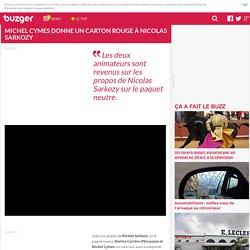 Michel Cymes donne un carton rouge à Nicolas Sarkozy
