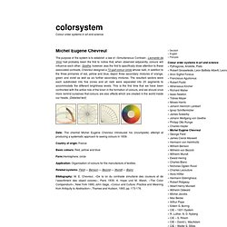 Michel Eugène Chevreul « colorsystem