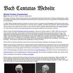 Michel Corboz (Conductor) - Short Biography