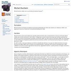 Michel Duchein - Dico-Wiki archivistique