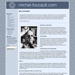 michel-foucault.com/ concepts