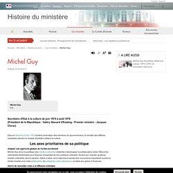 Michel Guy - Histoire du ministère
