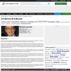 Michel Lacoste - Biographie