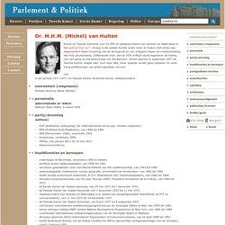 Dr. M.H.M. (Michel) van Hulten
