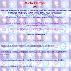 MICHEL BITBOL PHILOSOPHIE DE LA PHYSIQUE