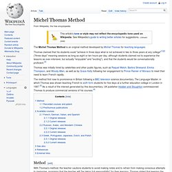Michel Thomas Method