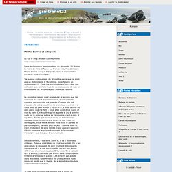 Michel Serres et wikipedia : gsintranet22