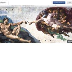 Michelangelo (1508-1512) Adams skapelse (klicka på den interaktiva bilden)
