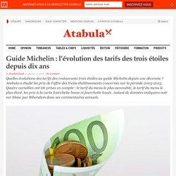 Guide Michelin : l'évolution des tarifs des trois étoiles depuis dix ans