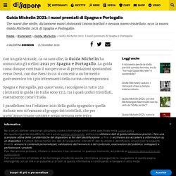 Guida Michelin 2021: i nuovi premiati di Spagna e Portogallo