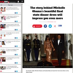 The story behind Michelle Obama's beautiful final state dinner dress will impress you even more