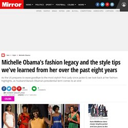 Michelle Obama's fashion legacy and the style tips we've learned from her over the past eight years