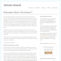 My Data-Driven Philosophy « Michelle Minkoff