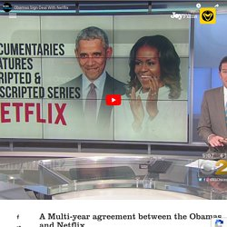 Barack and Michelle Obama to share stories with the world through Netflix