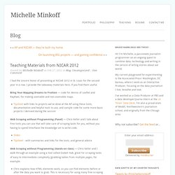 Teaching Materials from NICAR 2012 « Michelle Minkoff