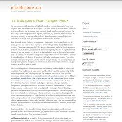 michelnature.com » Archives du Blog » 11 Indications Pour Manger Mieux