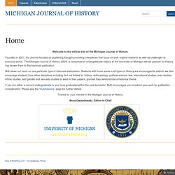Michigan Journal of History