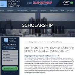 Michigan Injury Lawyers to Offer Bi-Yearly College Scholarship