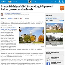 Study: Michigan's K-12 spending 9.5 percent below pre-recession levels
