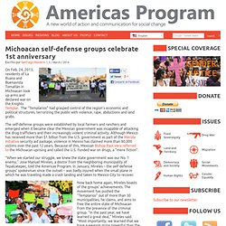 Michoacan self-defense groups celebrate 1st anniversary