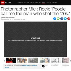Mick Rock: 'People call me the man who shot the '70s.'