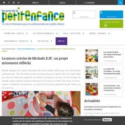La micro-crèche de Mickaël, EJE : un projet mûrement réfléchi