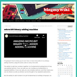 micro:bit binary adding machine