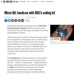 Micro Bit: hands-on with BBC's coding kit